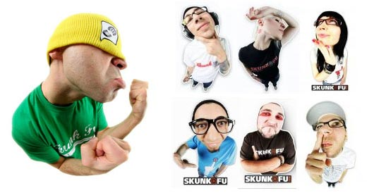 SKUNK FU supporting faces